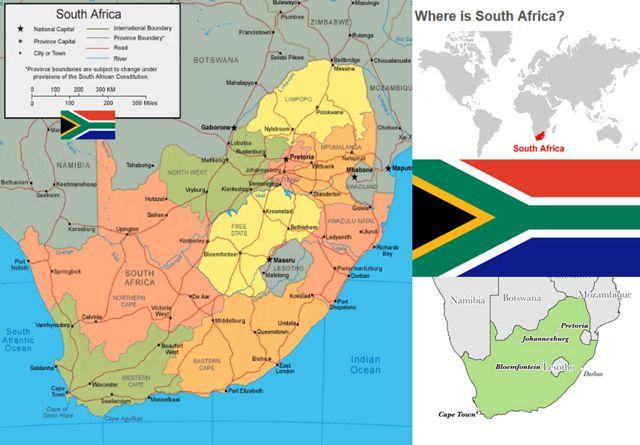 Peta Afrika Selatan