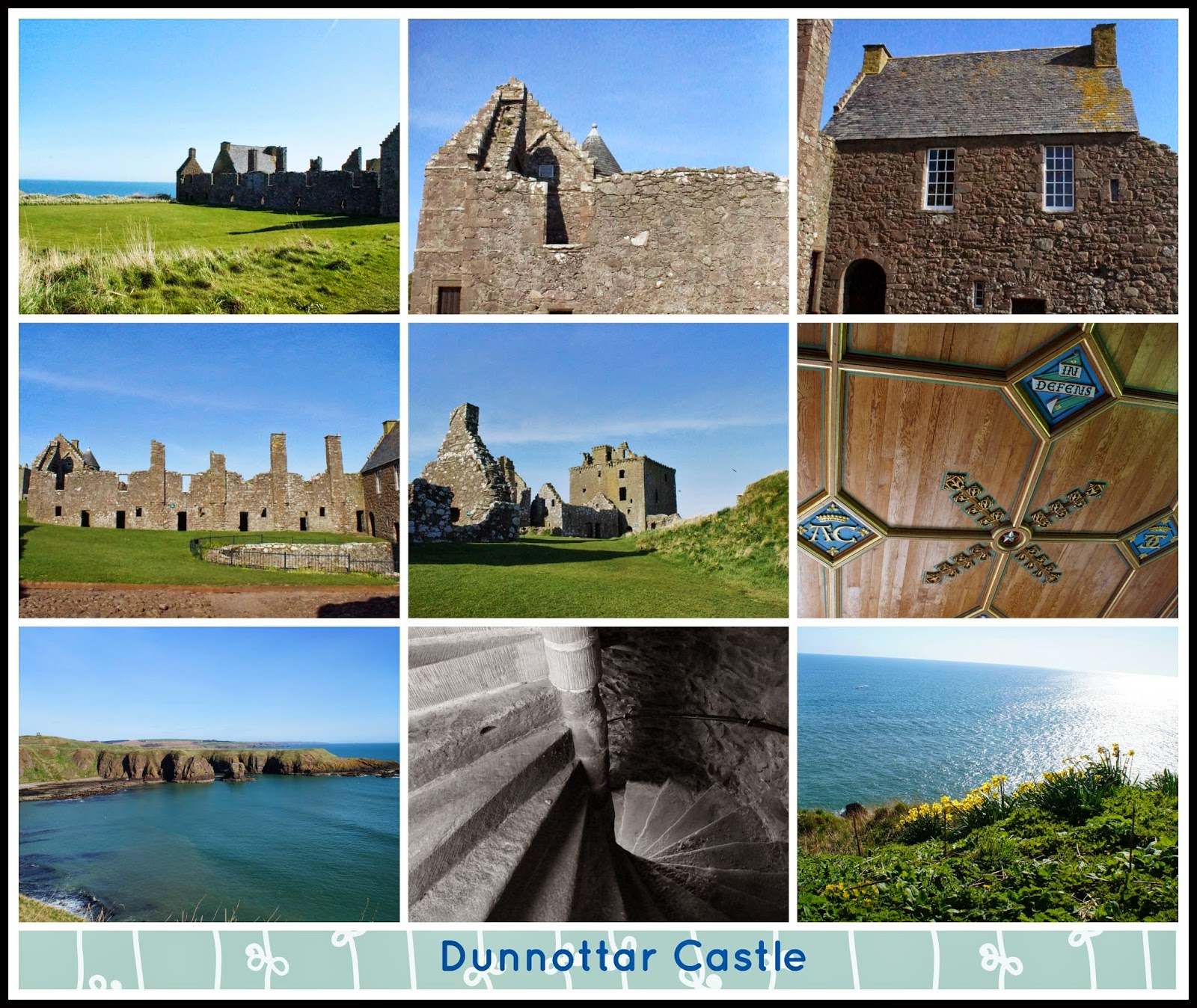Dunnottar Castle collage - 'growourown.blogspot.com' ~ An allotment blog