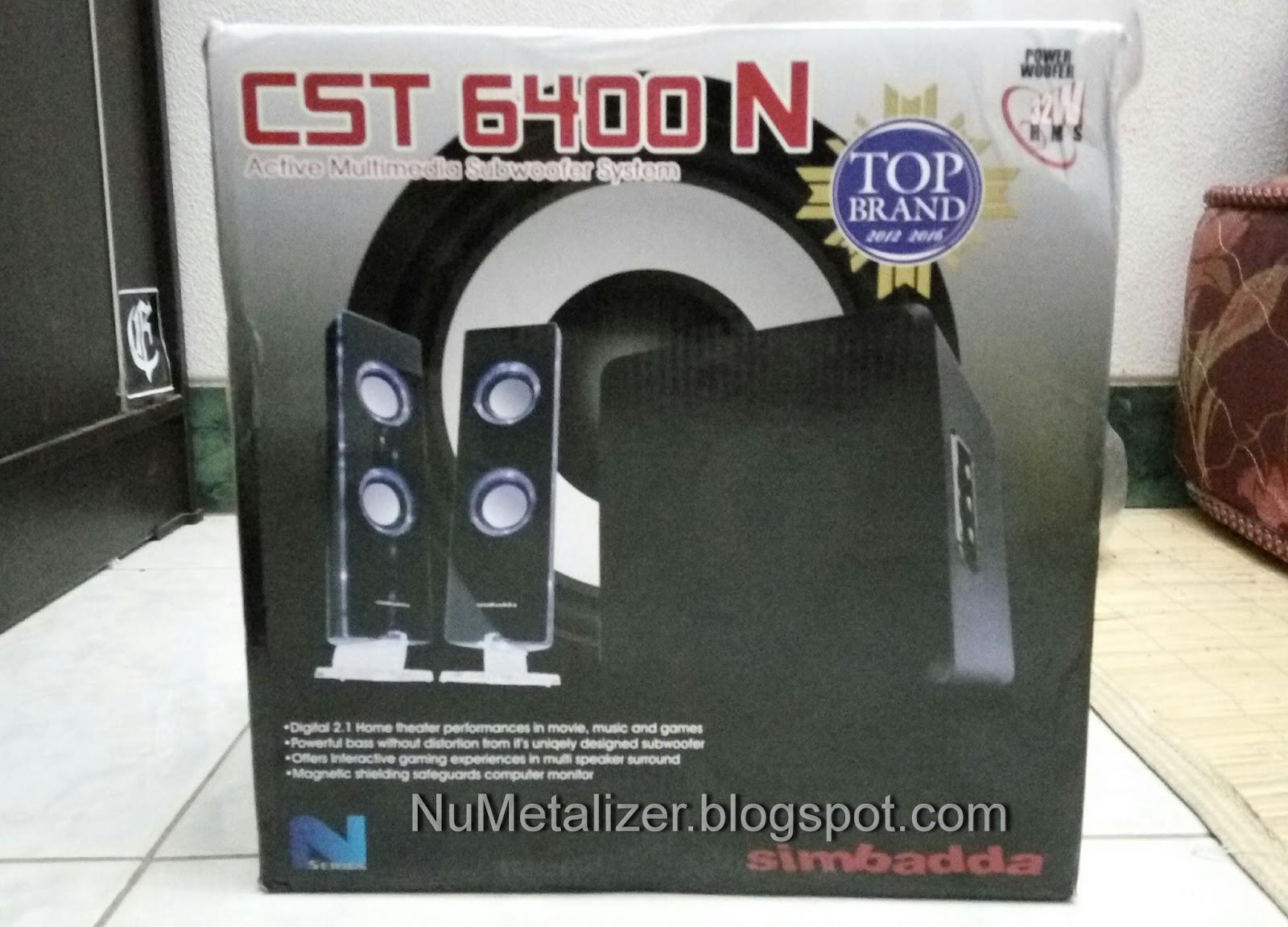 Review Speaker Simbadda Cst 6400 N Numetalizer