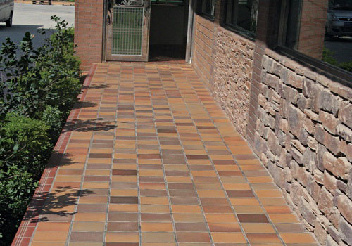 Traditional terracotta floor tiles clay natural color for modern classic design