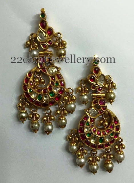 Detachable Ruby Kundan Earrings