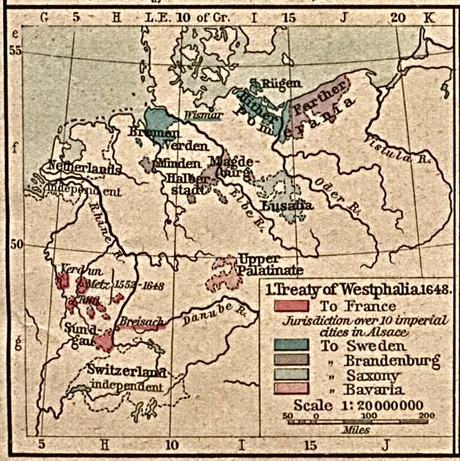 Historische Kaarten Europa Kaart Europa In 1648 Bij Vredes Van