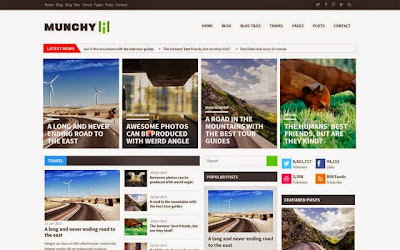 DOWNLOAD Munchy Mag Blogger Template