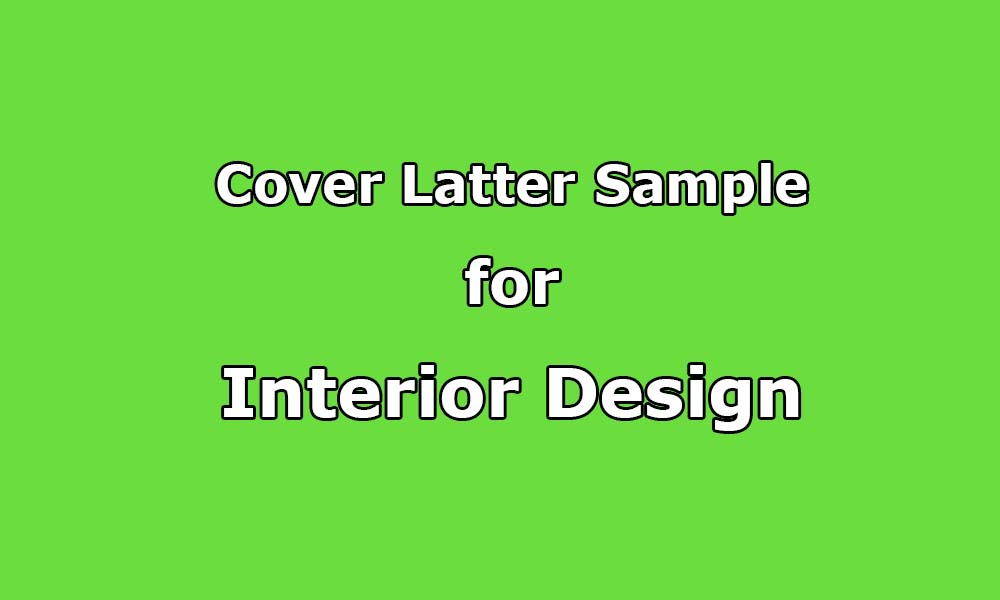 Cover letter sample on interior design upwork help cover letter sample on interior design spiritdancerdesigns Image collections
