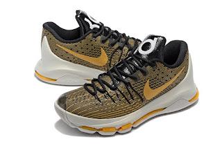 Sepatu Basket Nike KD8 Black Gold Sabertooth
