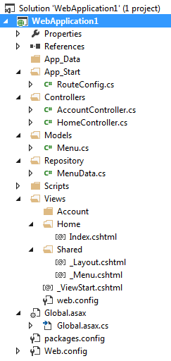 Bind menu and sub-menu dynamically in mvc from database