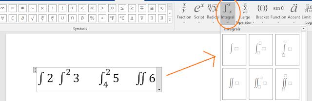 Microsoft word Equation