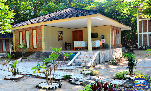 family cottage di pulau genteng kecil