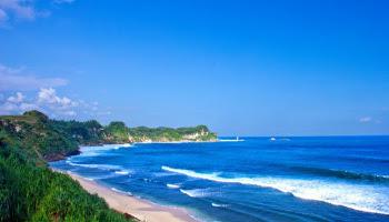 wisata pantai nampu wonogiri jawa tengah indonesia wisataarea.com