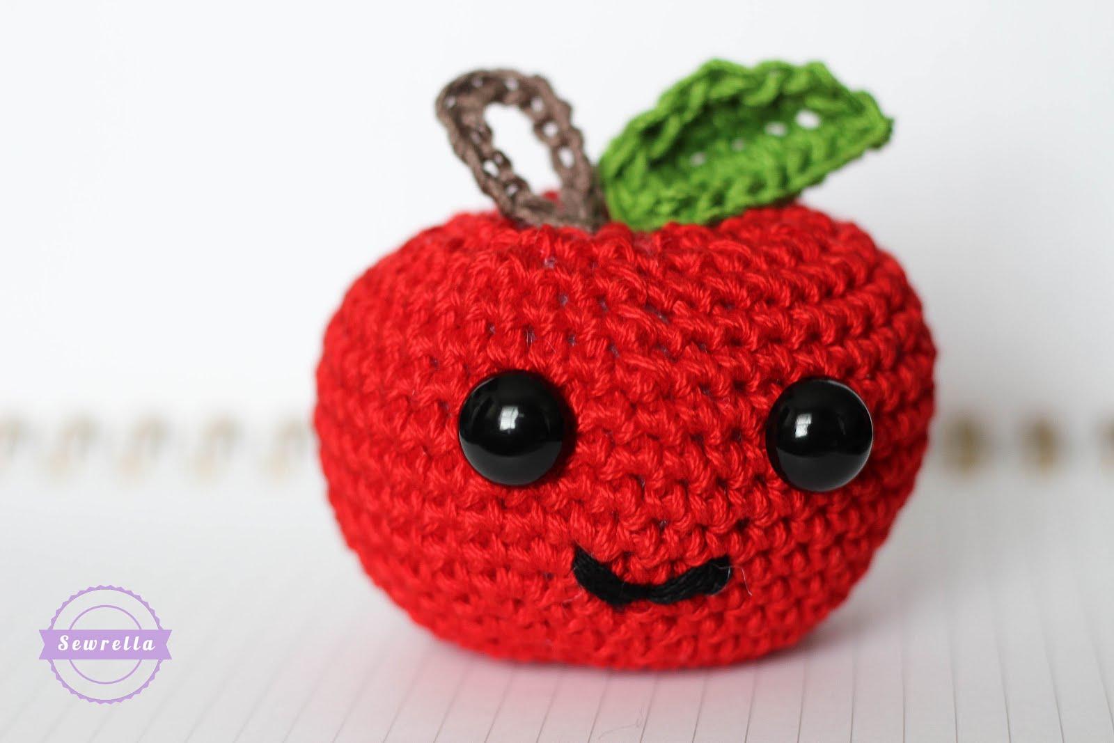Amigurumi Food : Amigurumi apple back to school series sewrella