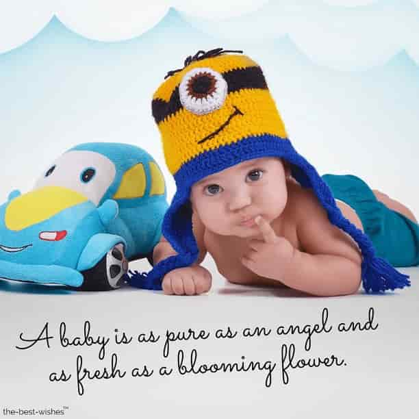 cute baby images with love quotes a baby is as pure as an angel and as fresh as a blooming flower