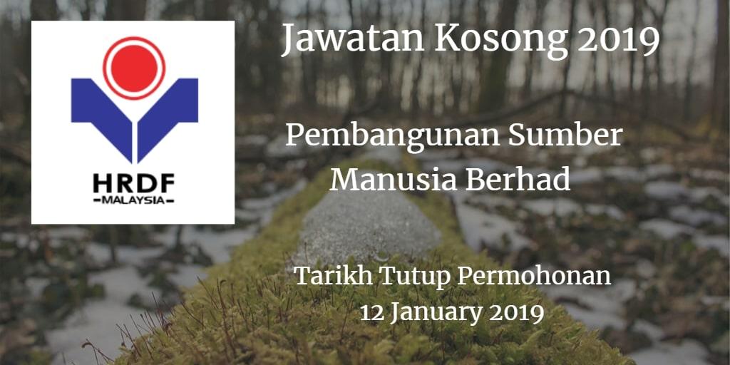 Jawatan Kosong HRDF 12 January 2019