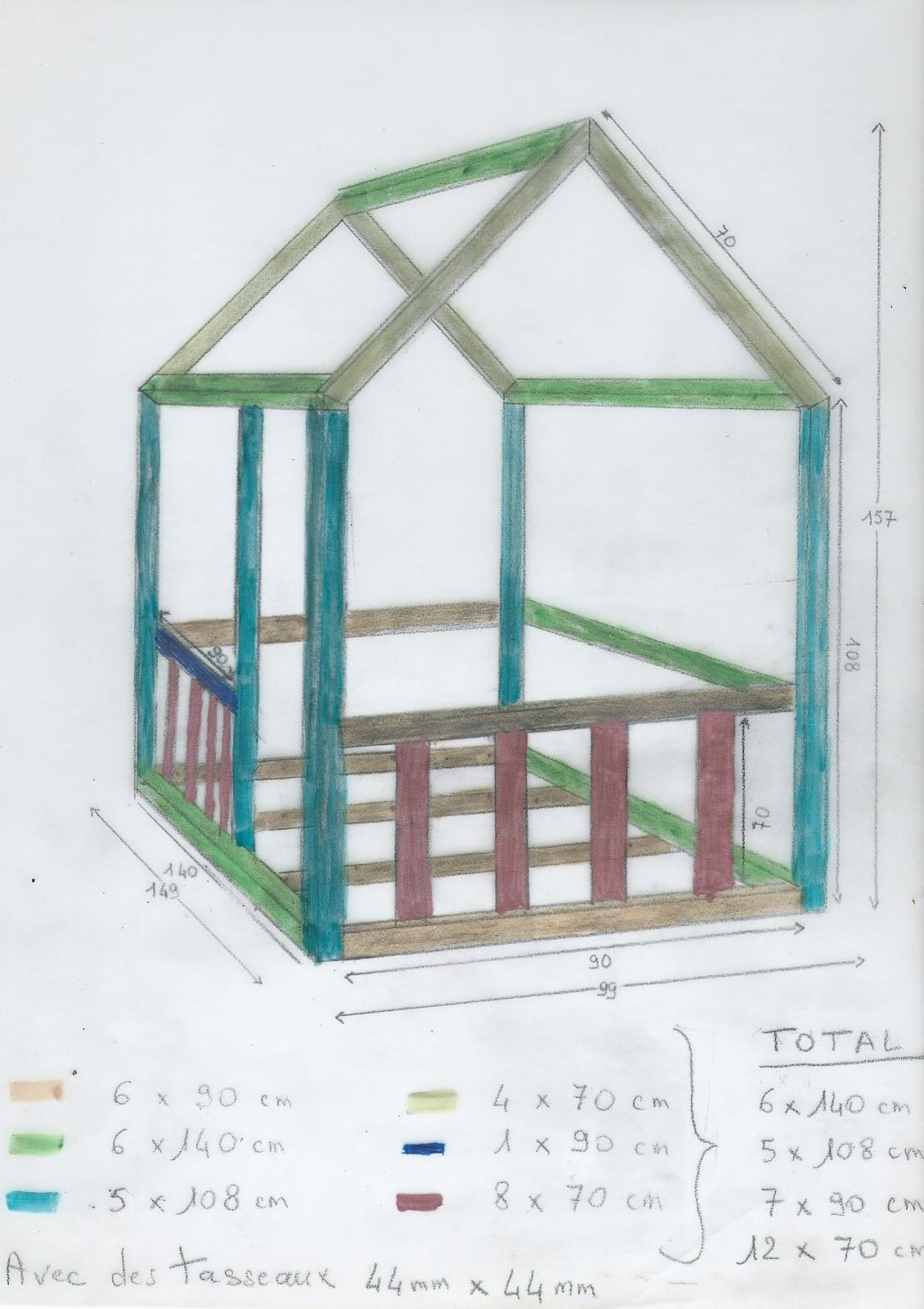 bricotransferts de pascale un lit cabane sur mesure pour mon petit fils. Black Bedroom Furniture Sets. Home Design Ideas