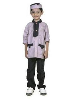 Setelan baju muslim anak laki-laki trendy