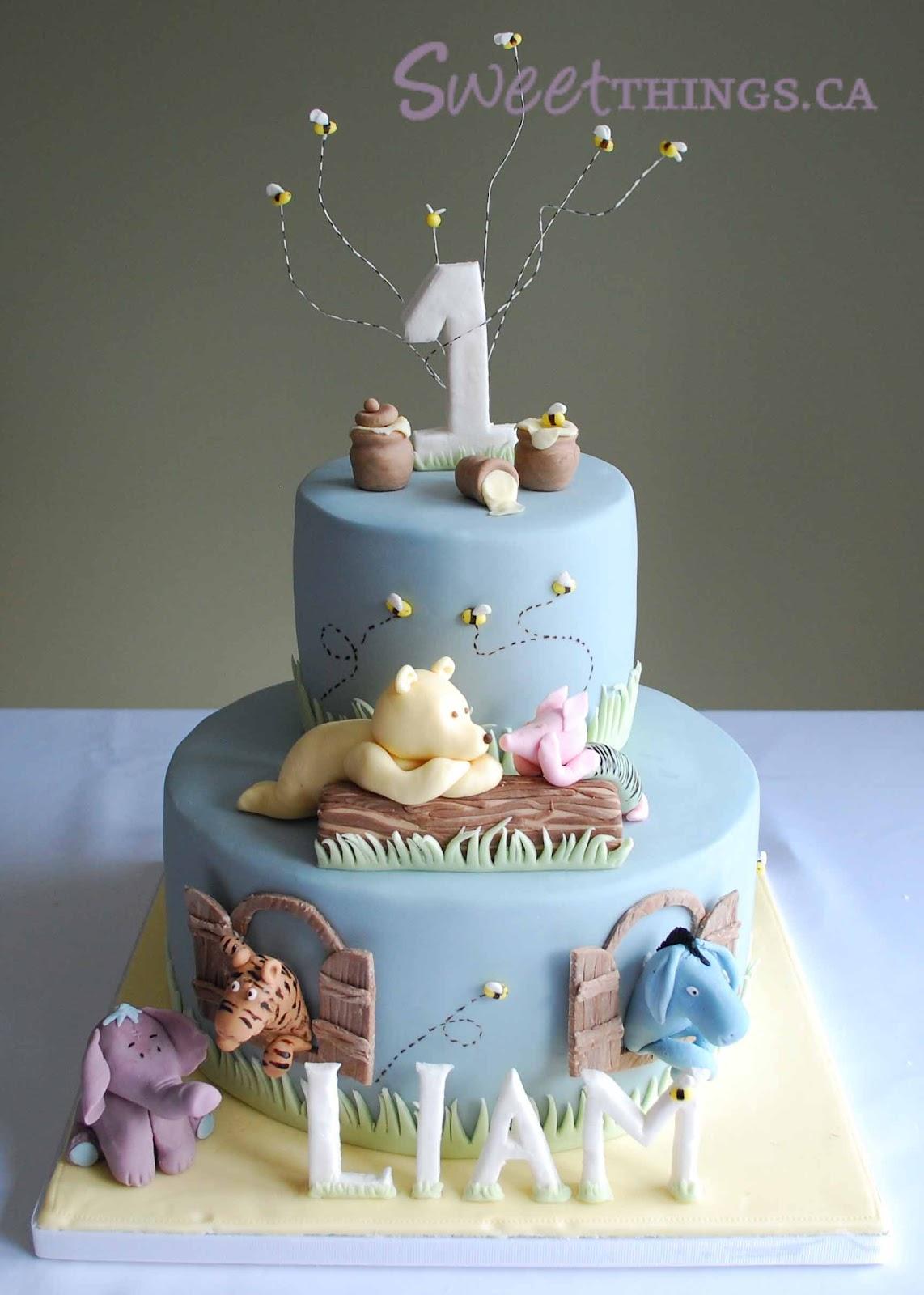 Sweetthings 1st Birthday Classic Winnie The Pooh Cake