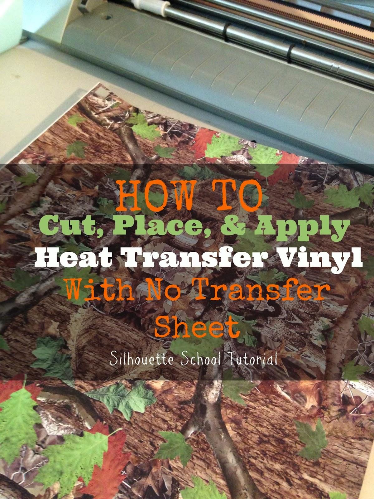 Silhouette tutorial, HTV, heat transfer vinyl, no transfer sheet, silhouette 101