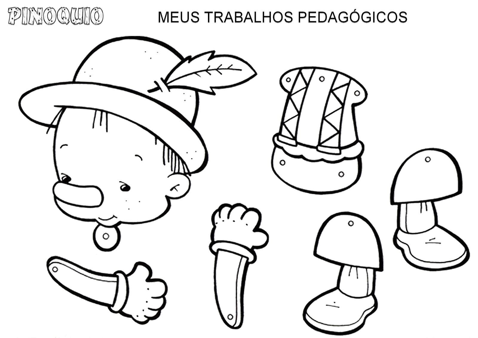 Meus Trabalhos Pedagógicos ®: Pinóquio