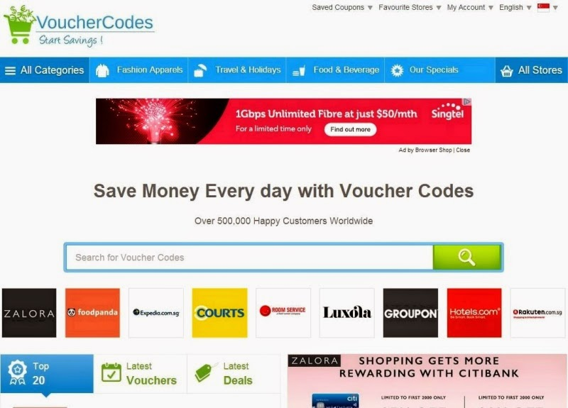 save money with voucher codes singapore online shopping