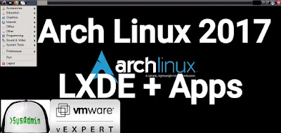 Arch Linux 2017 Installation with LXDE