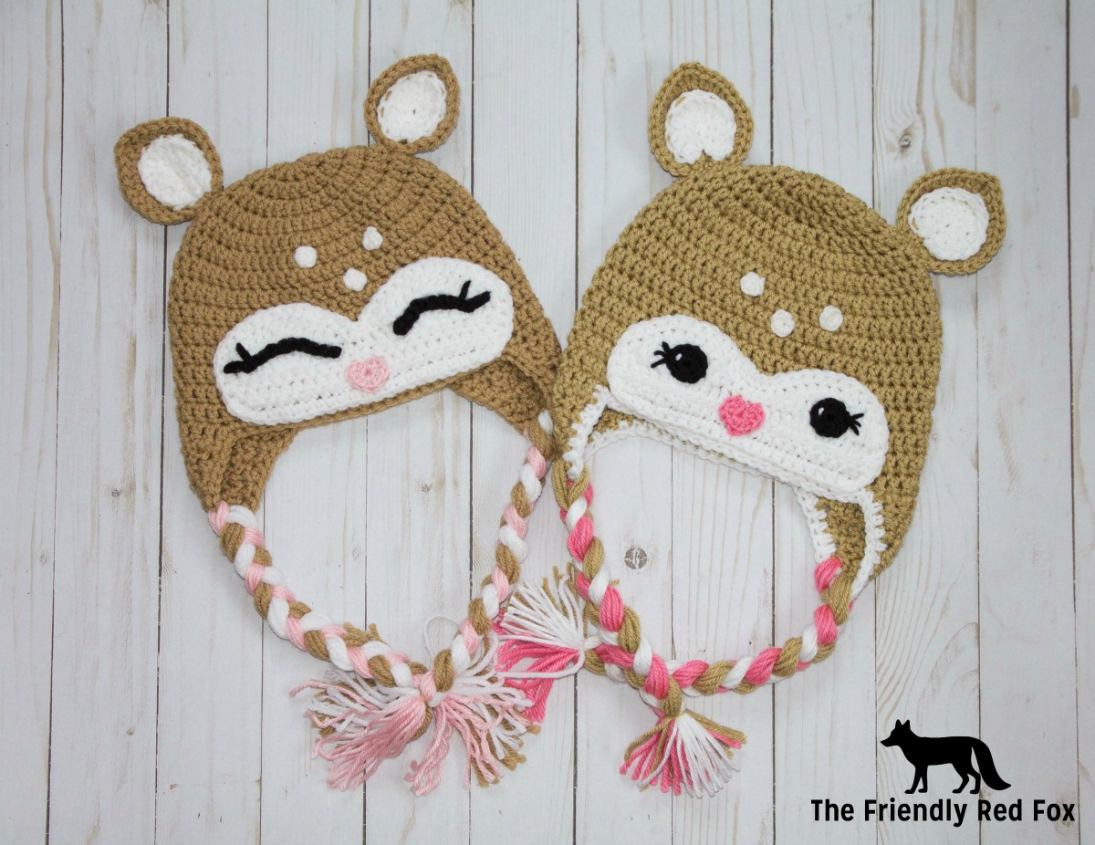 Free Crochet Little Deer Hat Pattern - thefriendlyredfox.com 9bca0e1443e