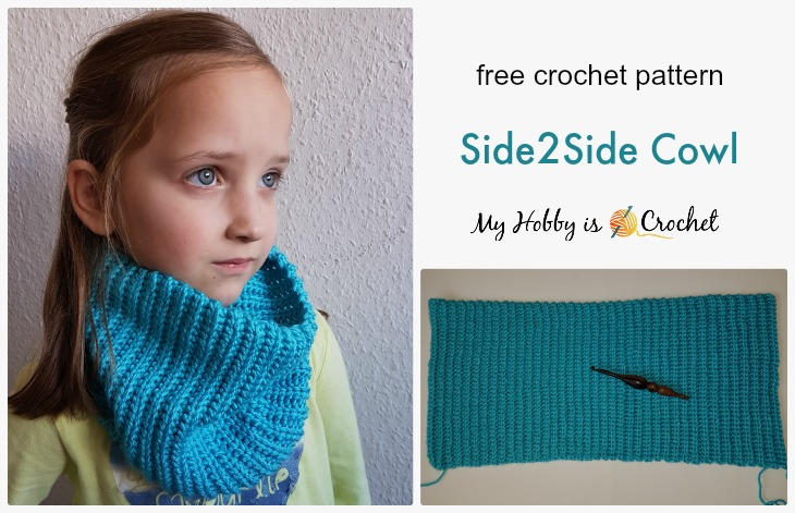 Side2Side Cowl - Free Crochet Pattern on myhobbyiscrochet.com