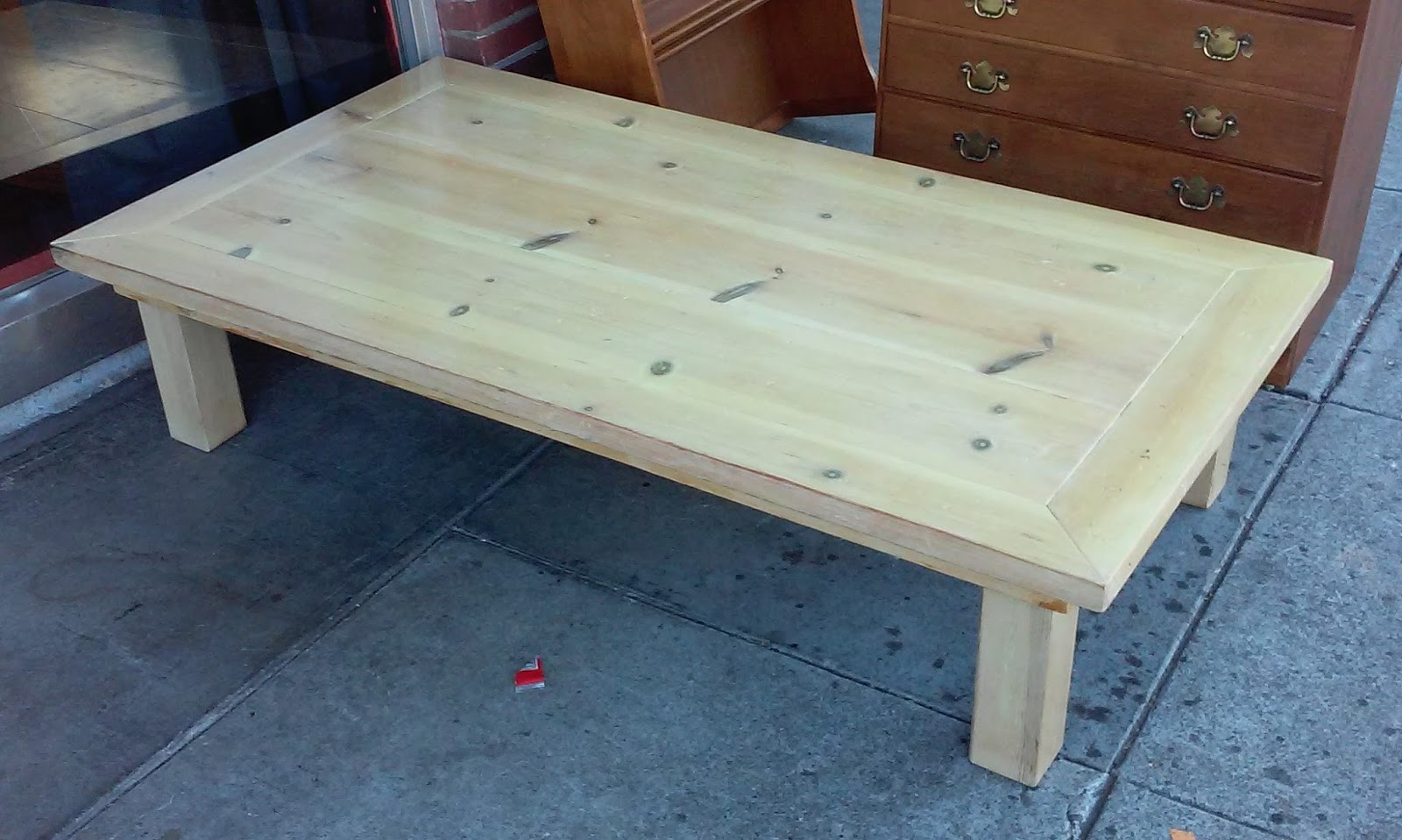 Uhuru Furniture Collectibles Sold Reduced 5 39 X 3 39 Knotty Pine Coffee Table 25