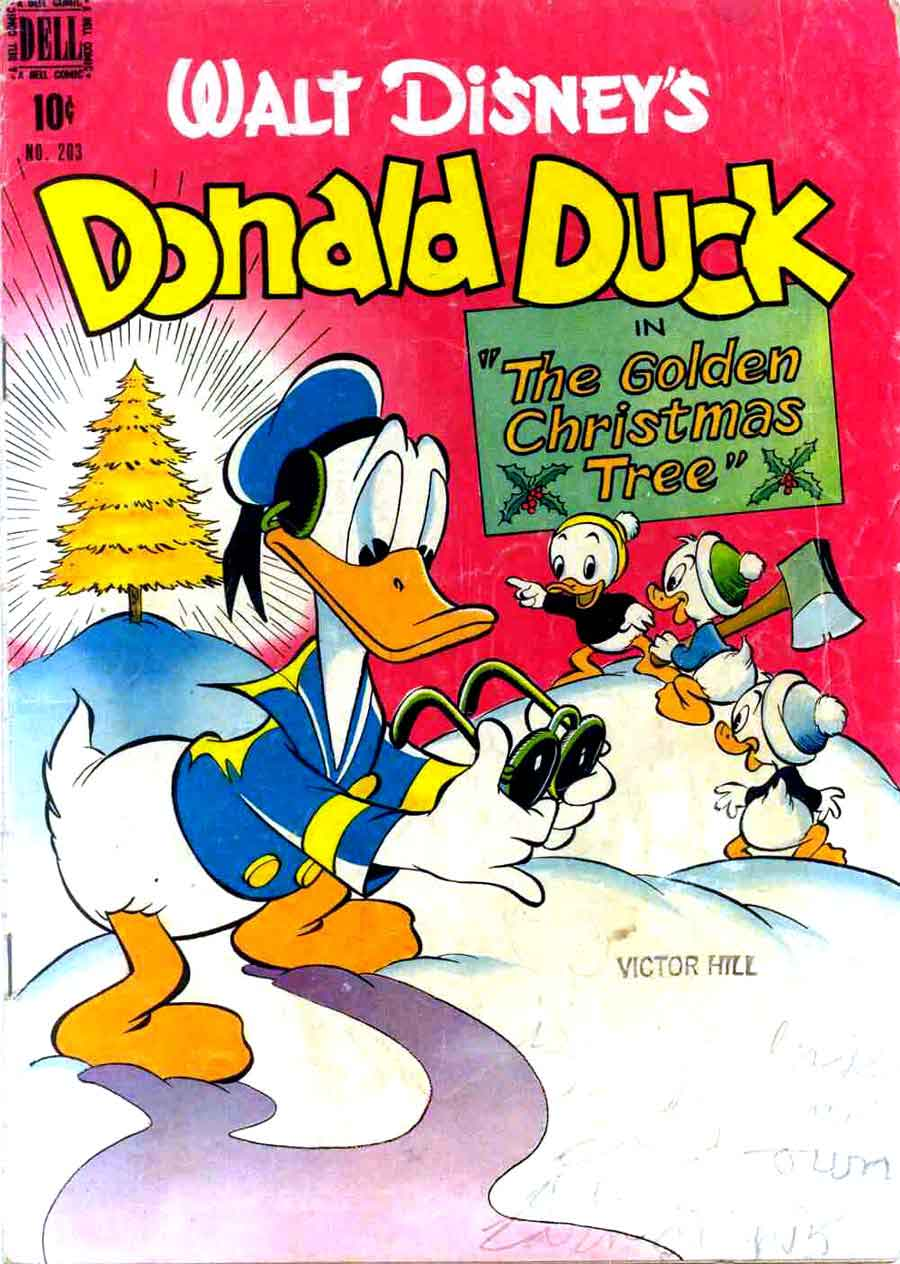 donald duck four color comics v2 203 carl barks art cover pencil ink. Black Bedroom Furniture Sets. Home Design Ideas
