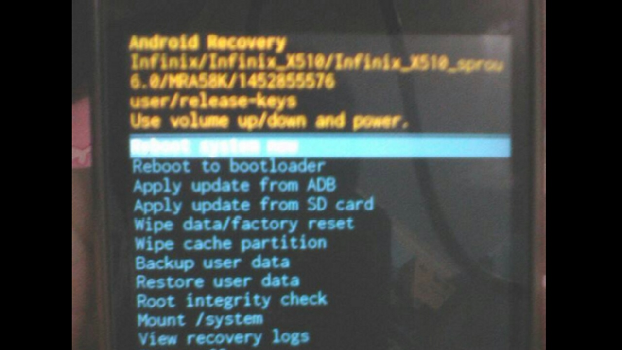 Cara masuk recovery mode Infinix hot 2