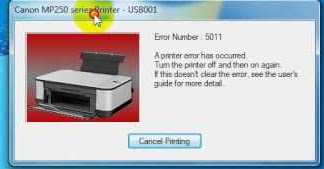 Canon Printer Error 5011