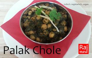 Palak Chole: gedämpfte Kichererbsen in jungem Spinat