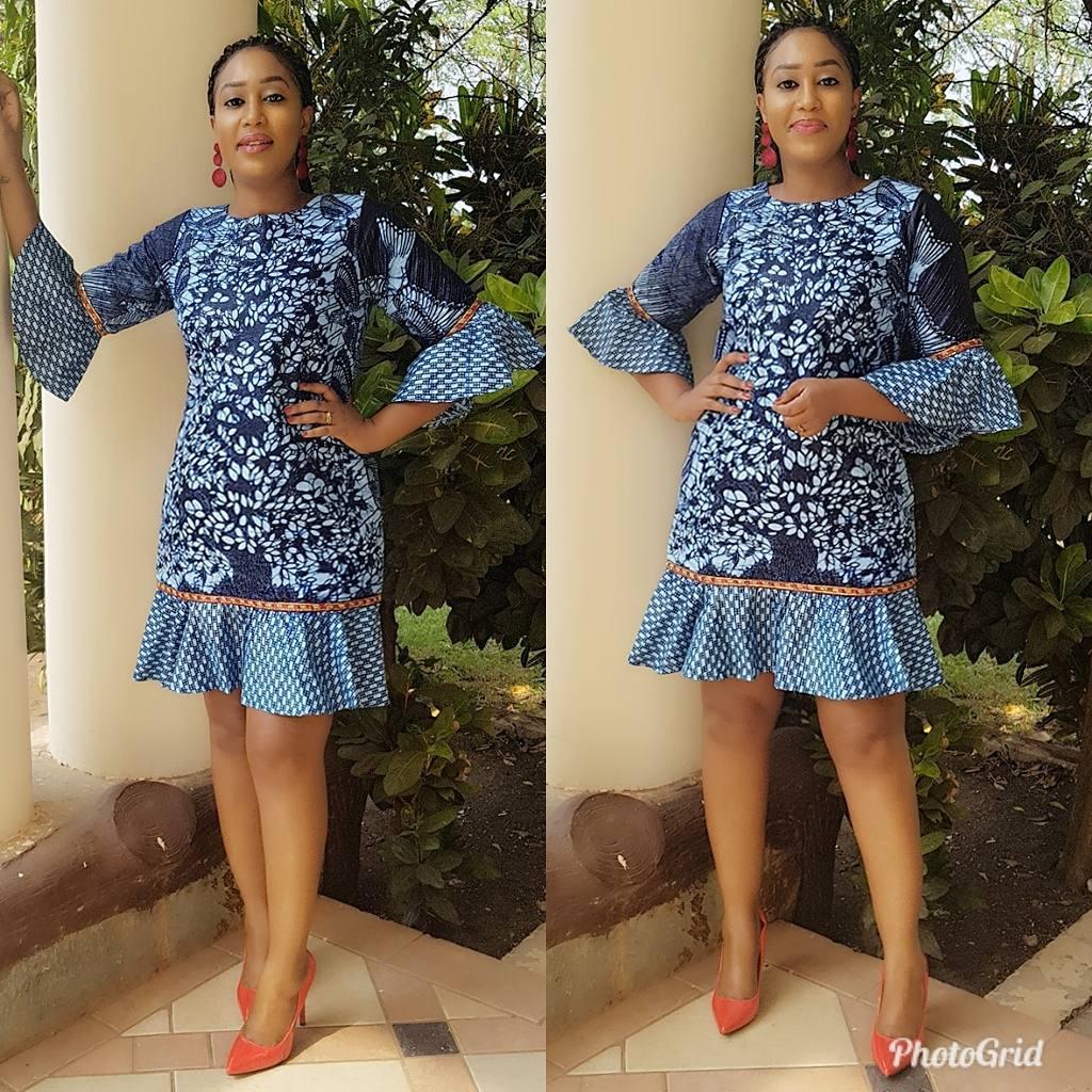 Latest fashion short dress 2018