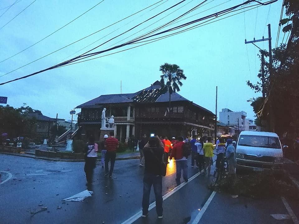 Tornado hit heritage house in Marikina.