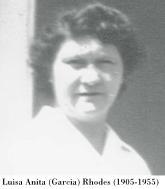 Thumbnail image of Luisa Anita (Garcia) Rhodes (1905-1955), c1943, Santa Margarita, CA. maestraslopez shared this with ancestry.com, 10 Mar 2013.