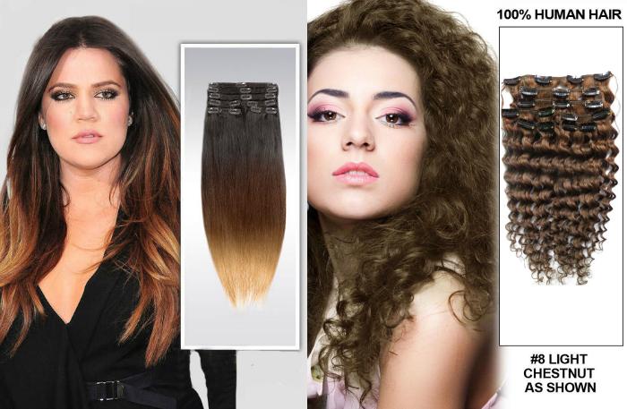 Clip in Hair Extension, alongamento de cabelo com clipe, extensão de cabelo com clipe