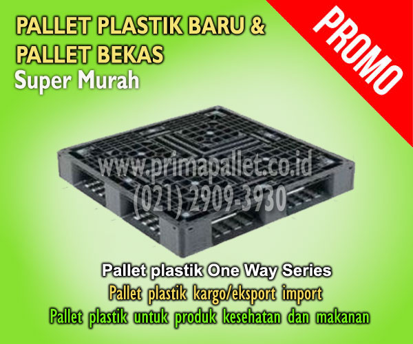 Jual Pallet Plastik Ukuran 1100 mm x 1100 mm x 120 mm