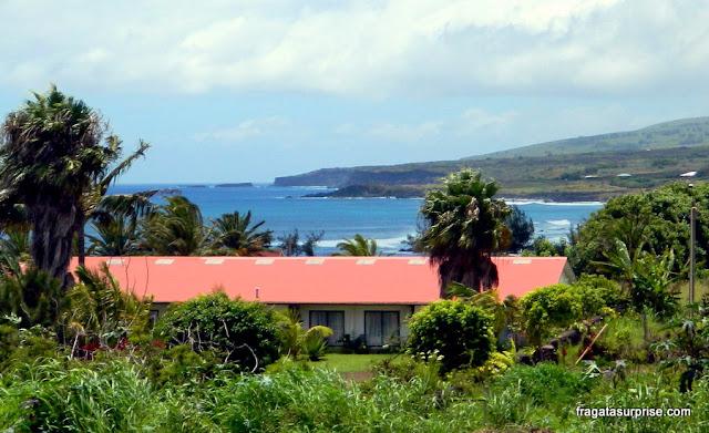 Pavilhão onde ficam os apertamentos do Tupa Hotel, na Ilha de Páscoa