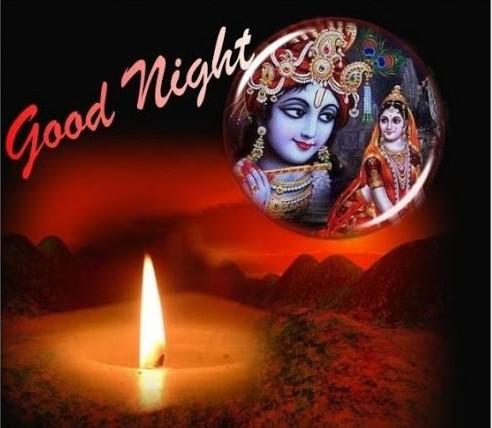 Best Whatsapp Good Night Images Of Lord Krishna