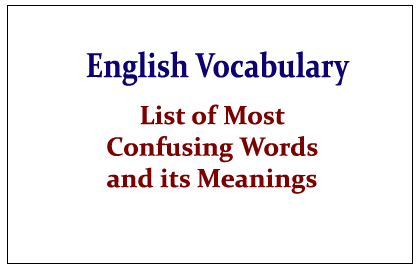 75 Toughest English Vocabulary Questions and Answers