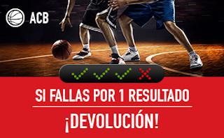 "sportium ACB: Combinada ""con seguro"" 3-4 noviembre"