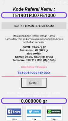 kode undangan aplikasi tambang emas android
