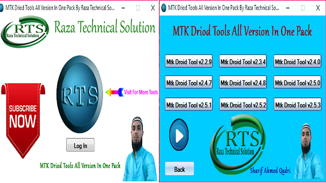 MTK Driod Tools All Version In One Pack By Raza Technical Solution