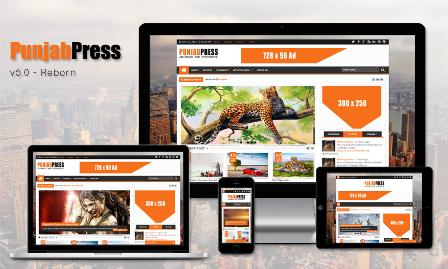 Punjab press v5.0 template blog majalah berita