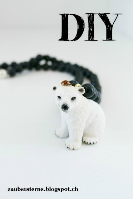 Halskette machen, DIY Kinderschmuck, Schleichkette, Tierkette
