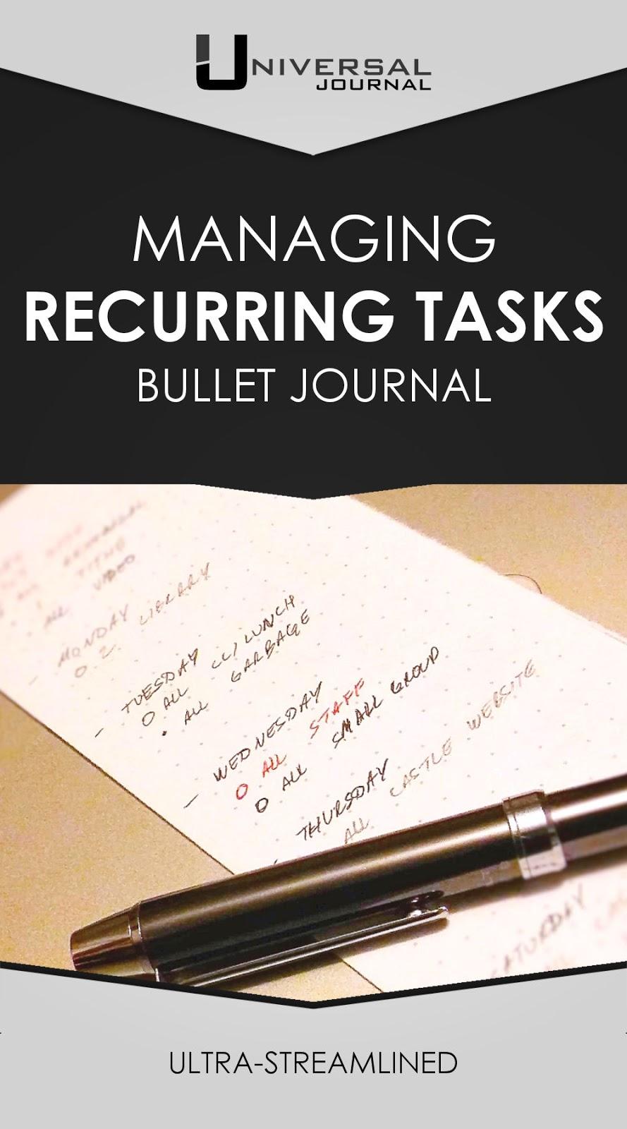 managing recurring tasks bullet journal