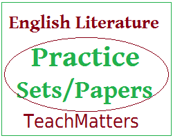 image : English Literature Practice Set-10 @ TeachMatters