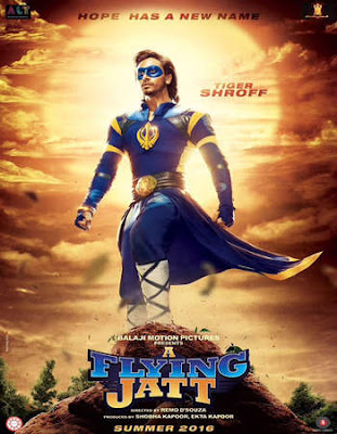 Poster Of Bollywood Movie A Flying Jatt (2016) 100MB Compressed Small Size Mobile Movie Free Download worldfree4u.com