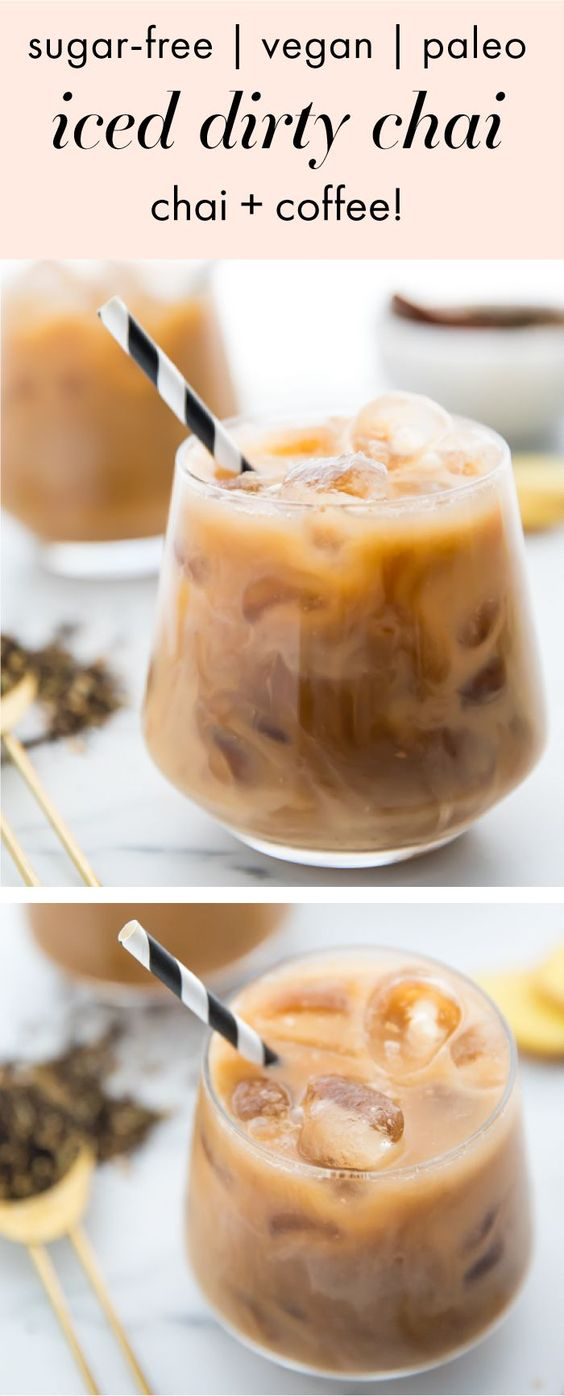 Iced Dirty Chai (Vegan, Paleo, Sugar Free)
