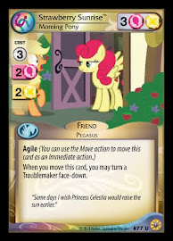 My Little Pony Strawberry Sunrise, Morning Pony Friends Forever CCG Card
