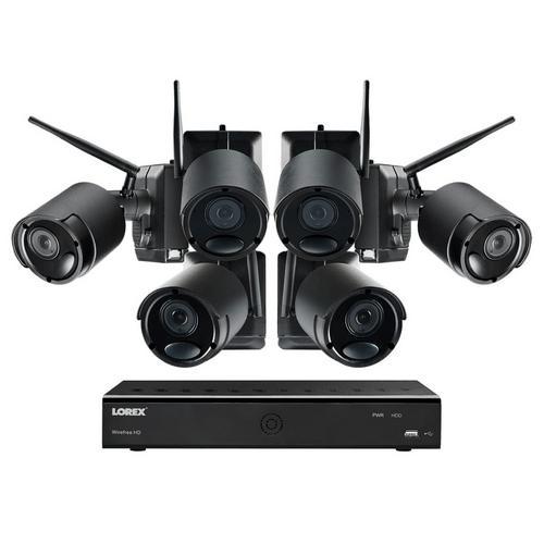 Lorex, LWF2080B-66 1080p Camera System, 1TB Hard Drive, 6 Cameras