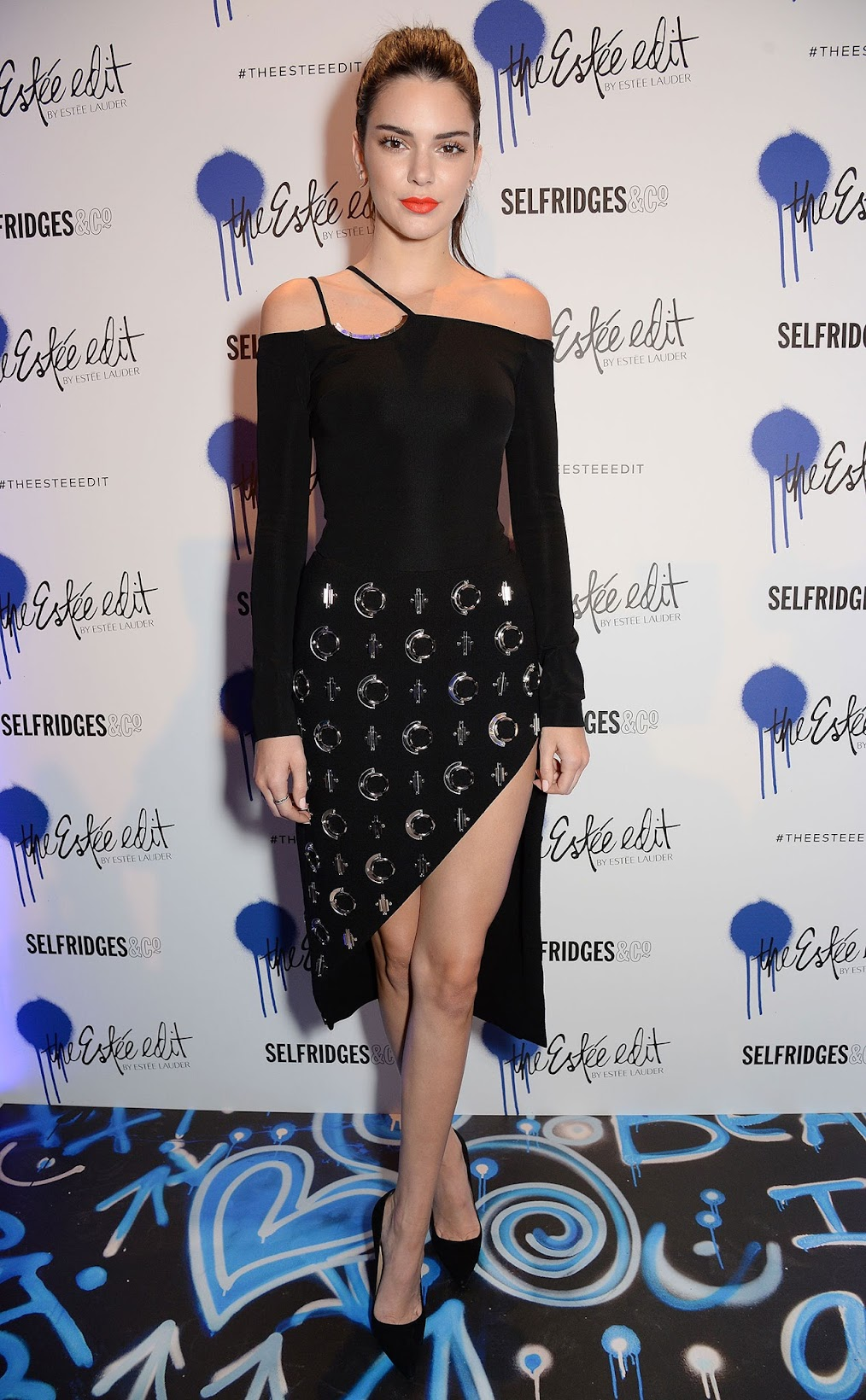 Kendall Jenner at the launch of Estee Edit in Selfriedges, London